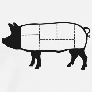 Pork Cuts Diagram Hoodie - Men's Premium T-Shirt