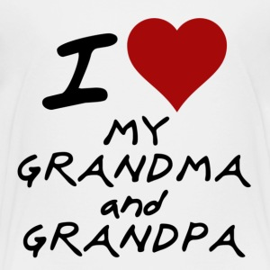 I HEART my grandpa and grandma Kids' Shirts - Toddler Premium T-Shirt