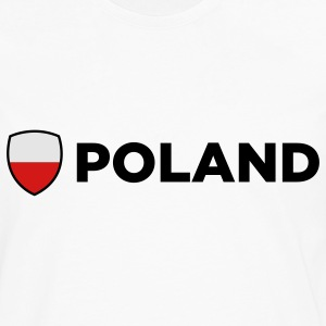 Poland Emblem Side 2 (3c) Polo Shirts - Men's Premium Long Sleeve T-Shirt
