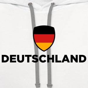 Germany Emblem Small 2 (3c) Women's T-Shirts - Contrast Hoodie
