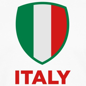 Italy Emblem Big (3c) Polo Shirts - Men's Premium Long Sleeve T-Shirt