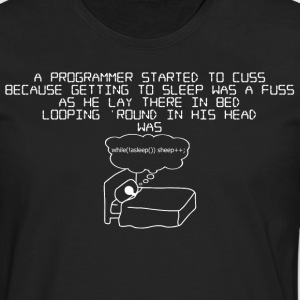 programmer !asleep - mens - Men's Premium Long Sleeve T-Shirt