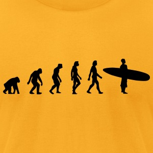 Surfing Evolution 3 (1c) Bags  - Men's T-Shirt by American Apparel