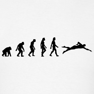 Swimming Evolution (1c) Hoodies - Men's T-Shirt