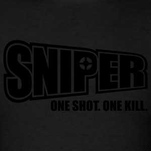 Sniper One Shot One Kill Sweatshirts - Men's T-Shirt