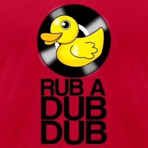 RUB A DUB DUB Vinyl Duck - Men's T-Shirt by American Apparel