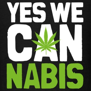Yes We Cannabis Dark Hoodies - Men's T-Shirt