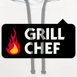 Grill Chef 1 (3c) Polo Shirts - Contrast Hoodie