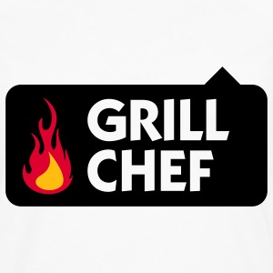 Grill Chef 1 (3c) Polo Shirts - Men's Premium Long Sleeve T-Shirt