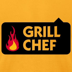 Grill Chef 1 (3c) Bags  - Men's T-Shirt by American Apparel
