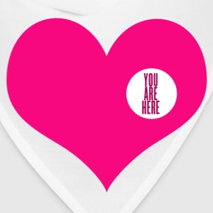 you are here - love and valentine's day gift Buttons - Bandana