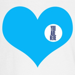 you are here - love and valentine's day gift Buttons - Men's Long Sleeve T-Shirt