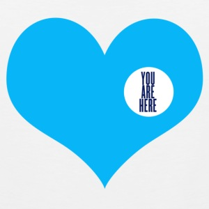 you are here - love and valentine's day gift Buttons - Men's Premium Tank