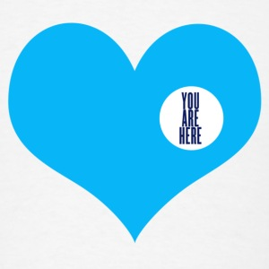 you are here - love and valentine's day gift Buttons - Men's T-Shirt