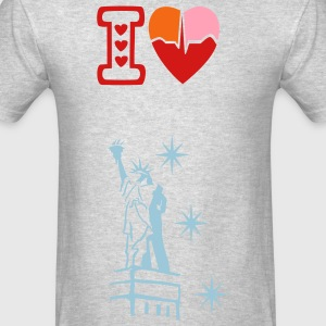 I love New York men's Crew-neck Sweatshirt - Men's T-Shirt