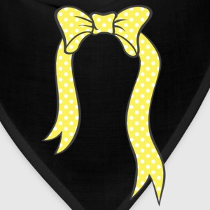Yellow Bow With Dots Women's T-Shirts - Bandana