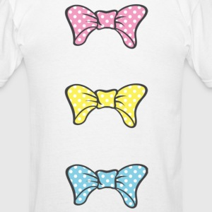 Three Bows Different Colors Tanks - Men's T-Shirt
