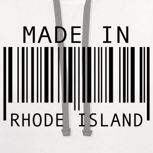 Made in Rhode Island Long Sleeve Shirts - Contrast Hoodie