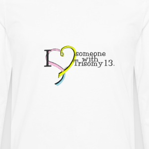 3_colors_someone_with_trisomy13 Women's T-Shirts - Men's Premium Long Sleeve T-Shirt