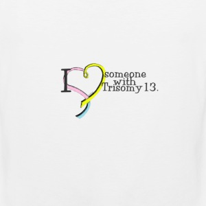 3_colors_someone_with_trisomy13 Women's T-Shirts - Men's Premium Tank