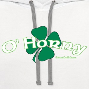St Patrick's Day O'Horny T-Shirts - Contrast Hoodie