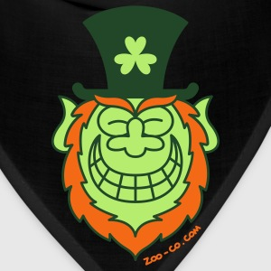 St Paddy's Day Leprechaun Grinning from Ear to Ear Zip Hoodies/Jackets - Bandana