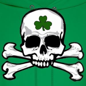 shamrock_skull_and_crossbones T-Shirts - Men's Hoodie