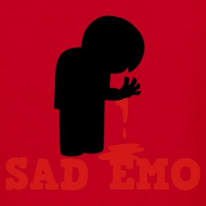 SAD EMO with blood Zip Hoodies/Jackets - Women's V-Neck T-Shirt