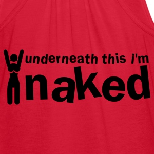 underneath this i'm naked woman Zip Hoodies/Jackets - Women's Flowy Tank Top by Bella