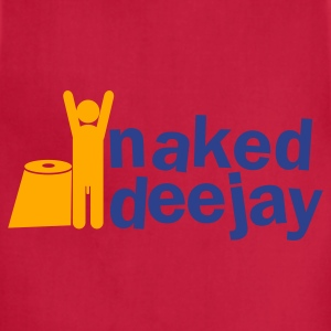 naked deejay (with a willy) Zip Hoodies/Jackets - Adjustable Apron