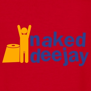 naked deejay (with a willy) Zip Hoodies/Jackets - Women's V-Neck T-Shirt