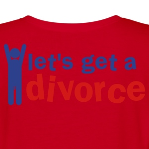 let's get a divorce (with a willy) Zip Hoodies/Jackets - Women's V-Neck T-Shirt