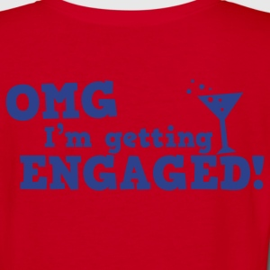 omg im getting engaged with coaktail glass marriage Zip Hoodies/Jackets - Women's V-Neck T-Shirt