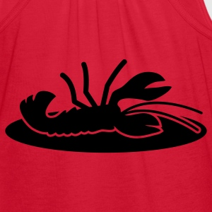 lobster crayfish on a plate Zip Hoodies/Jackets - Women's Flowy Tank Top by Bella