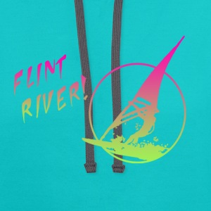 Flint River T-Shirts - Contrast Hoodie