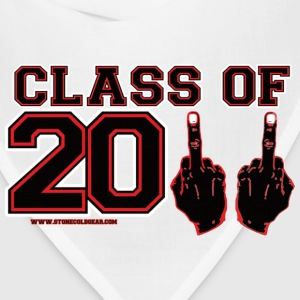 class 2011 finger FU Black and Red T-Shirts - Bandana