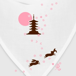 Cherryflower Bunny rabbit hare bunnies cony leveret bimbo cherry flower blossom japan  Kids' Shirts - Bandana