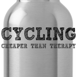Cycling Cheaper Than Therapy Hoodies - Water Bottle