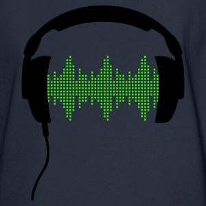 Headphones with Frequency-Equalizer DJ Music Sound Beat Pop  Zip Hoodies/Jackets - Men's Long Sleeve T-Shirt