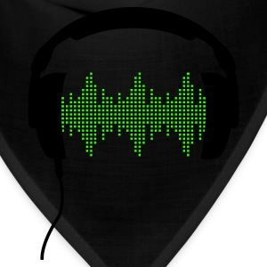 Headphones with Frequency-Equalizer DJ Music Sound Beat Pop  Zip Hoodies/Jackets - Bandana