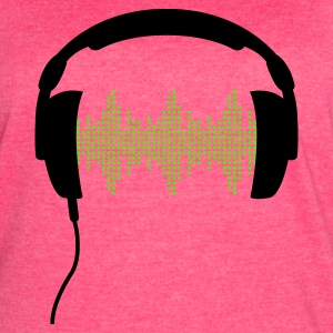 Headphones with Frequency-Equalizer DJ Music Sound Beat Pop  Tanks - Women's Vintage Sport T-Shirt