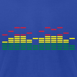 Equalizer Frequency DJ Sound Music Beat Pop Techno Hoodies - Men's T-Shirt by American Apparel