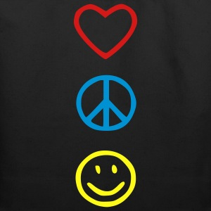 Love Peace Happiness Kids' Shirts - Eco-Friendly Cotton Tote