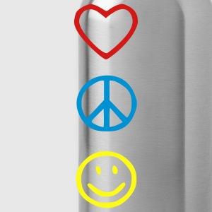 Love Peace Happiness Kids' Shirts - Water Bottle