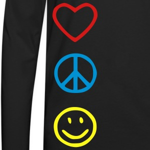 Love Peace Happiness Kids' Shirts - Men's Premium Long Sleeve T-Shirt