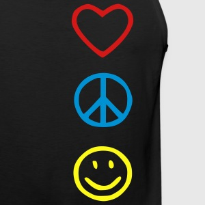 Love Peace Happiness Kids' Shirts - Men's Premium Tank