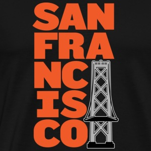 San Francisco Block Bay Bridge Hoodie - Men's Premium T-Shirt