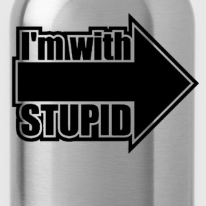 im with stupid - Water Bottle