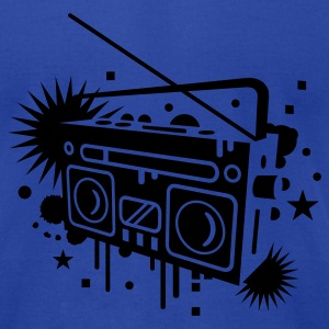 Radio cassette recorder graffiti Tanks - Men's T-Shirt by American Apparel