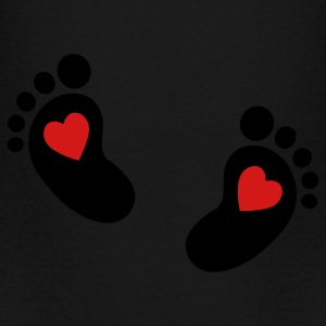 baby feet heart Athletic Wear - Toddler Premium T-Shirt
